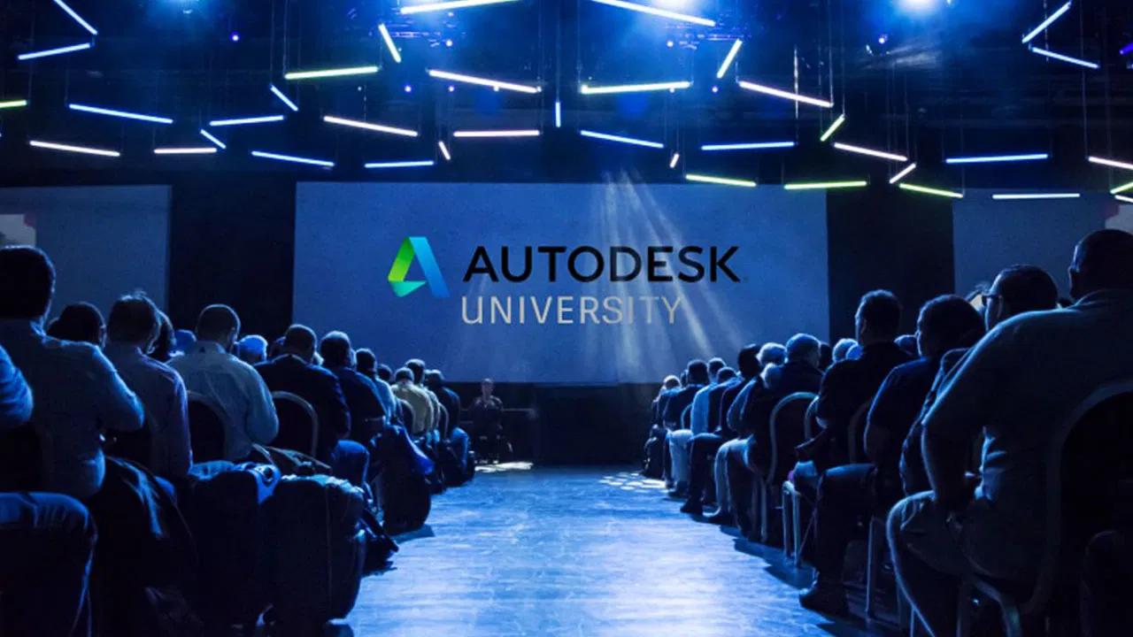 imagem ilustrativa e banner do autodesk university