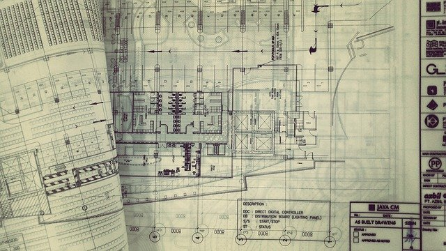 planta baixa ilustrando arquitetura e engenharia