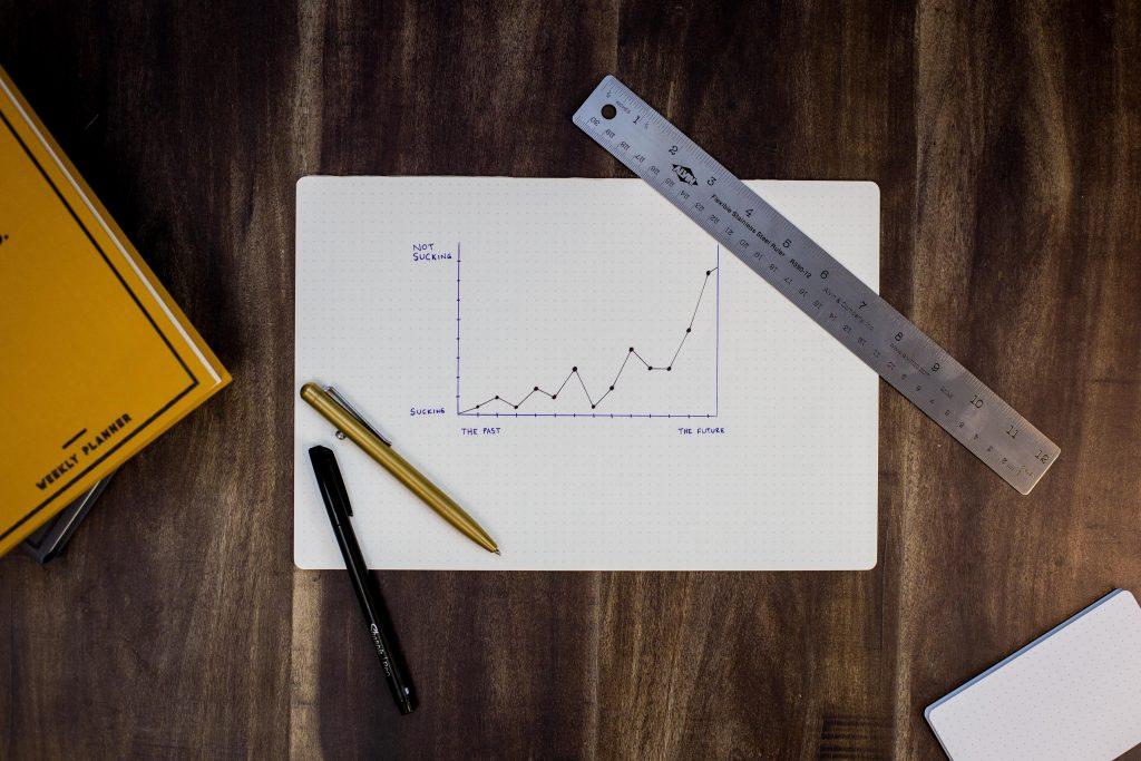 imagem ilustrativa de mesa com gráfico, ilustrando hábitos