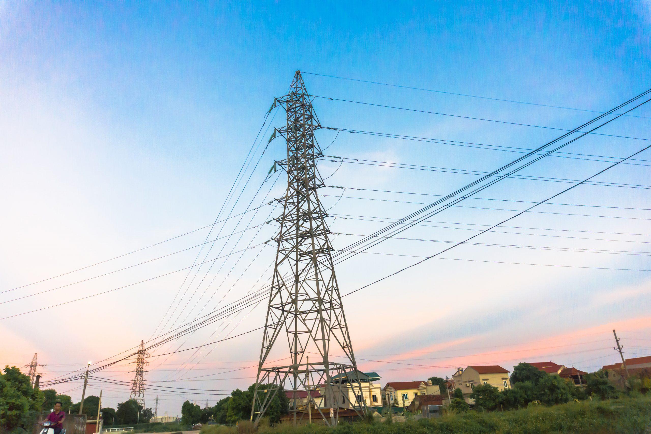 linha de transmissão de rede elétrica