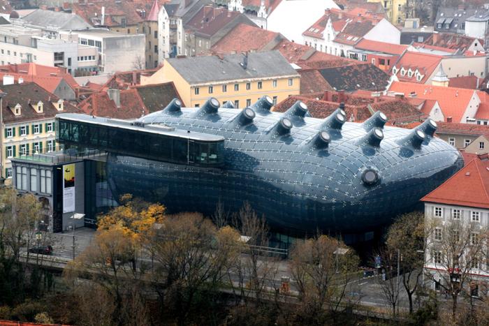 imagem do Kunsthaus Graz, Áustria