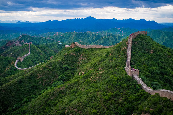foto aérea da Grande Muralha da China