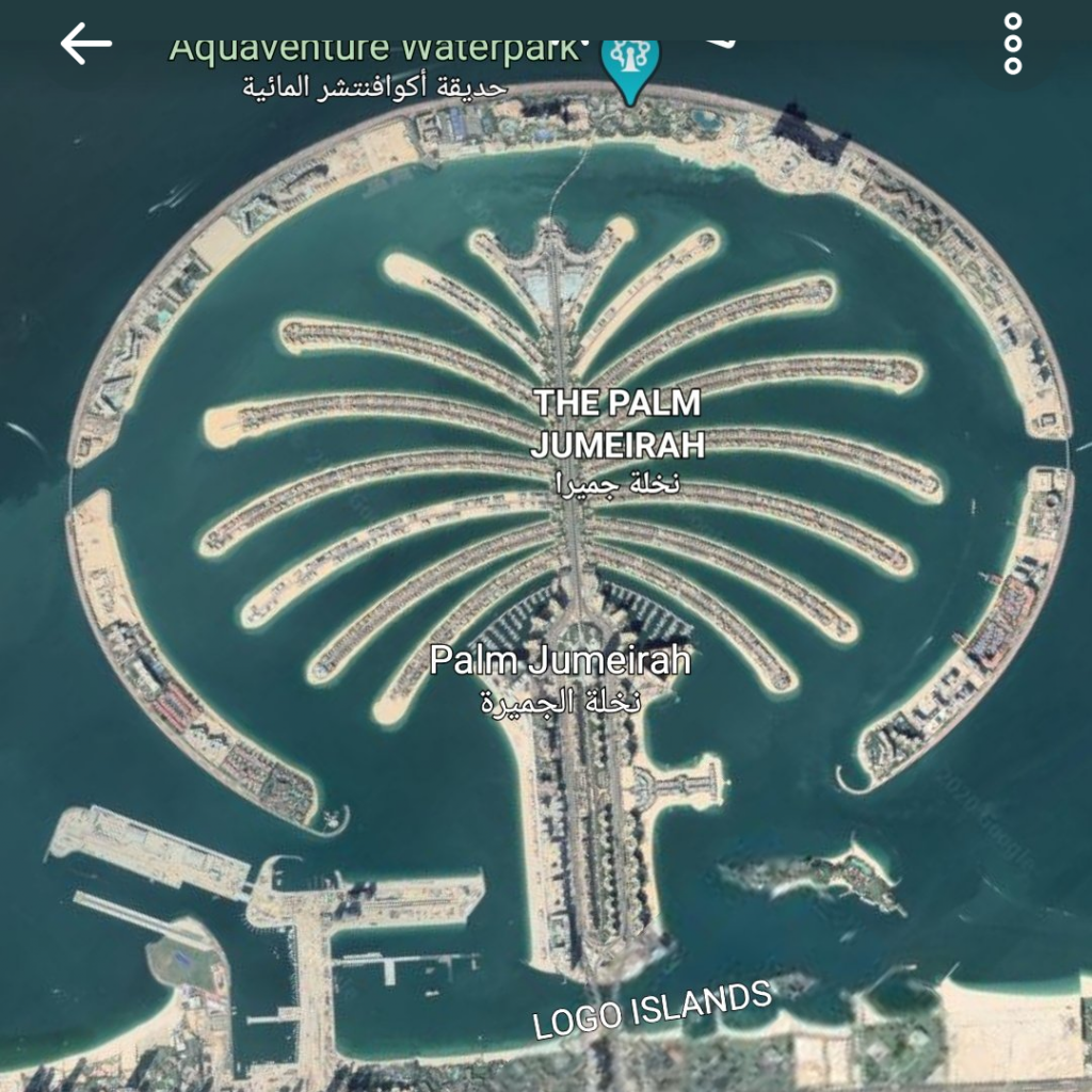 Dubai, Emirados Árabes Unidos, vista aérea