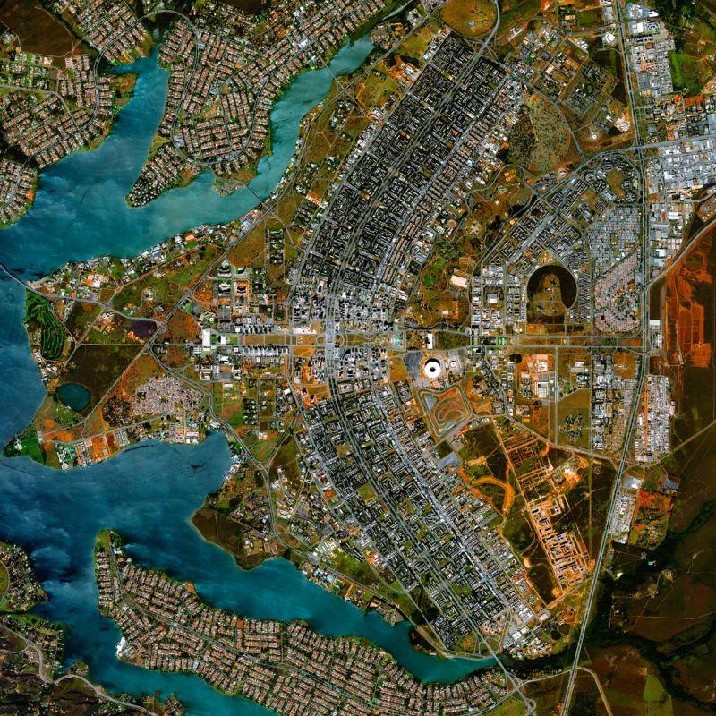 Vista aérea de Brasília, Brasil.
