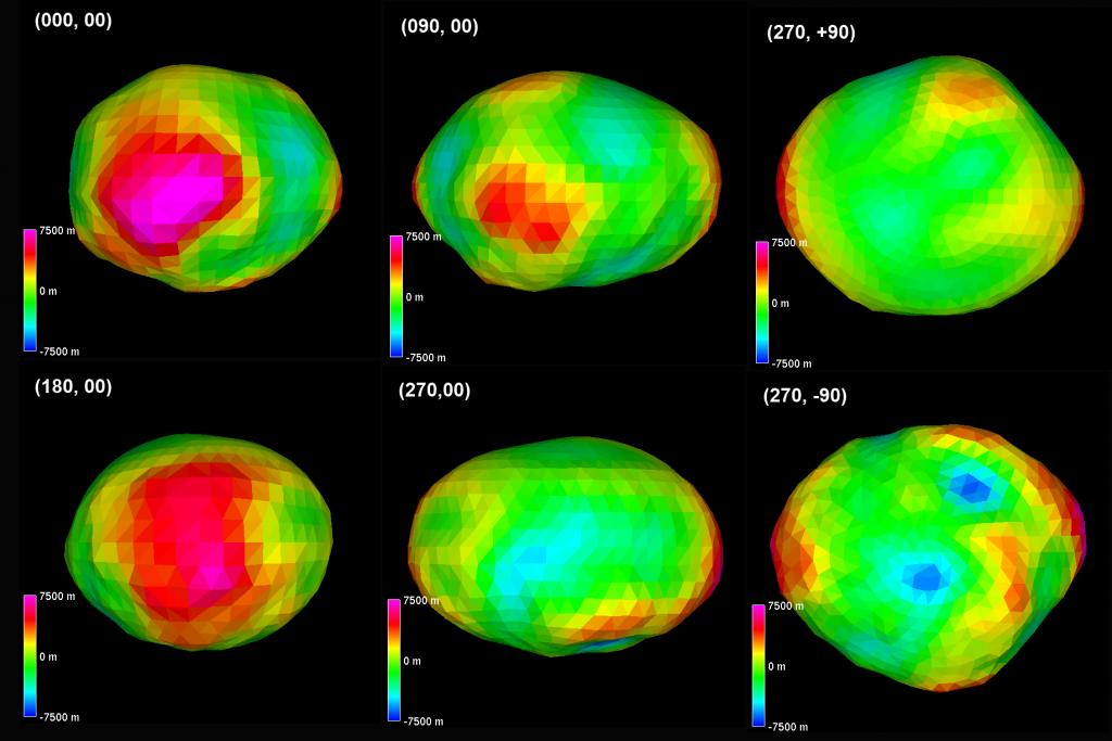 Estudo da estrutura de 16 Psyche do asteroide com raios ultravioletas