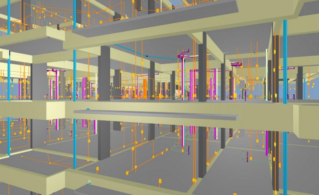 Projeto compatibilizado ilustrando softwares usados na engenharia civil