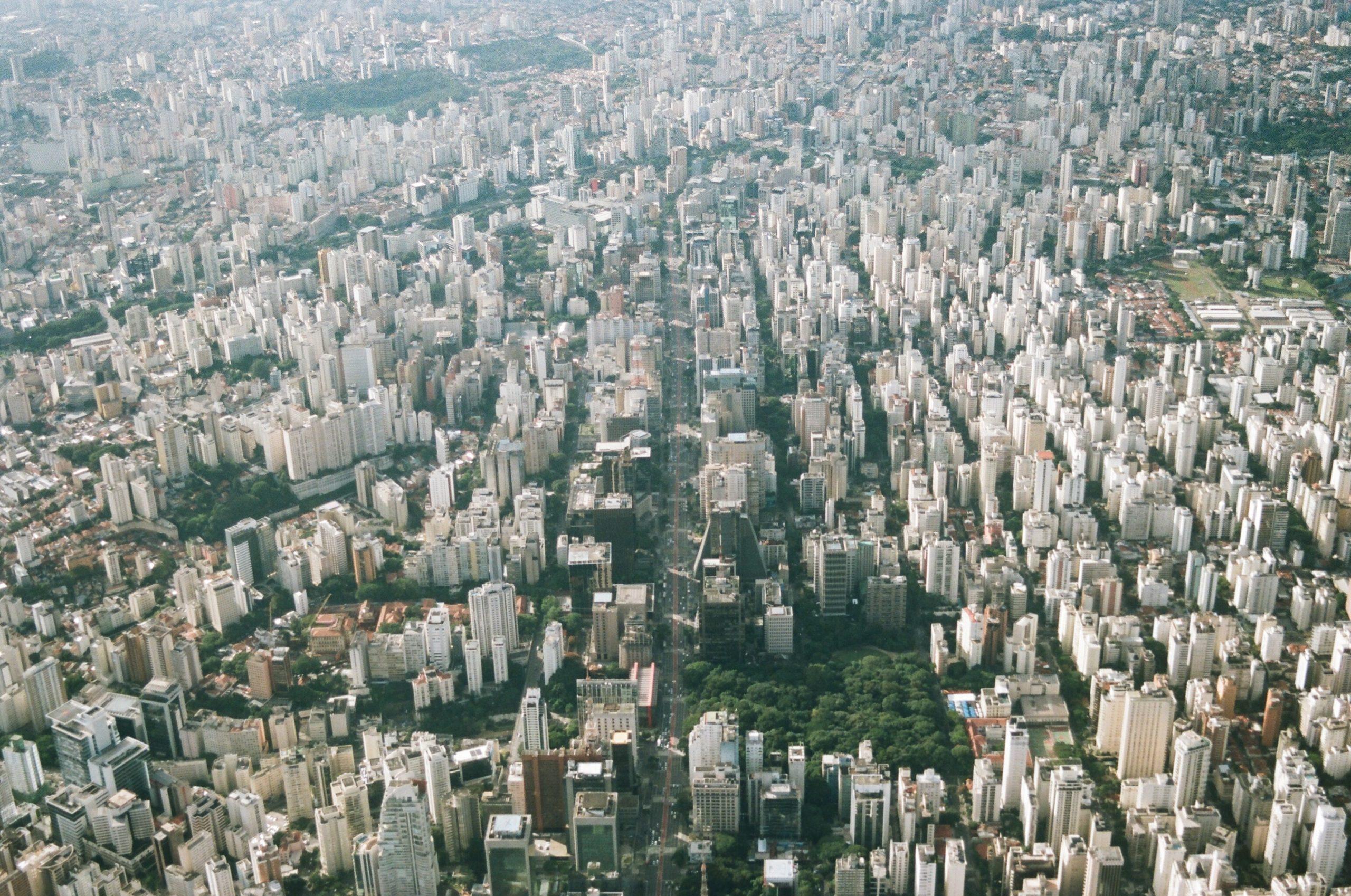 cidade de sao paulo vista aérea urbanismo