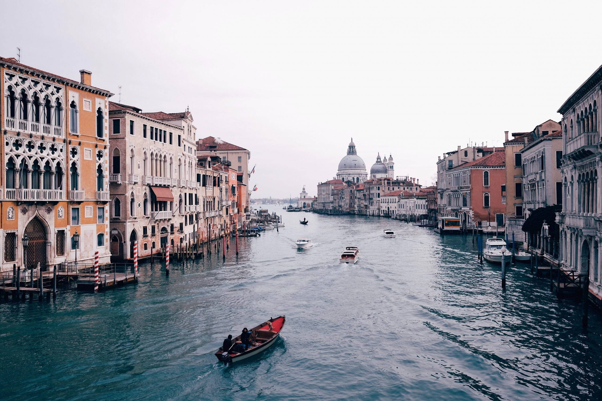 canais de veneza, na Italia
