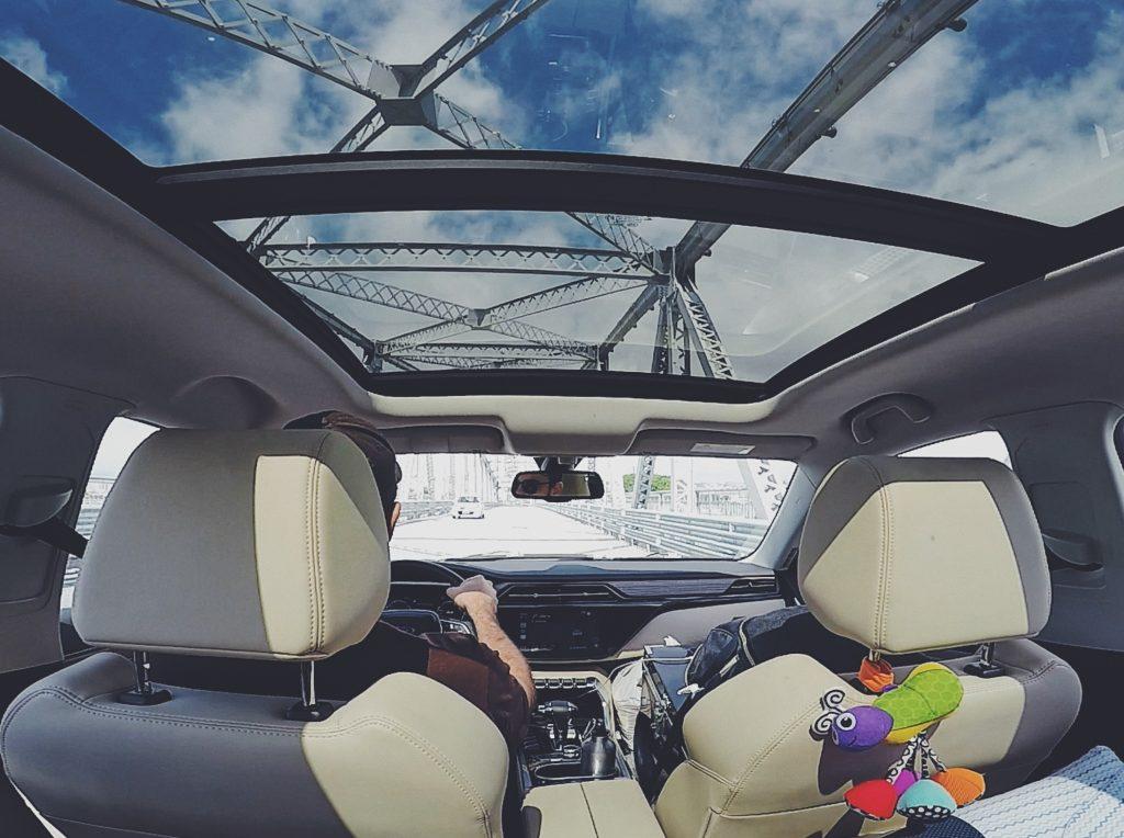 teto solar panorâmico Ford Territory