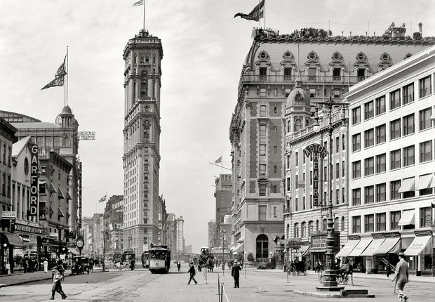 Times Square por volta de 1904
