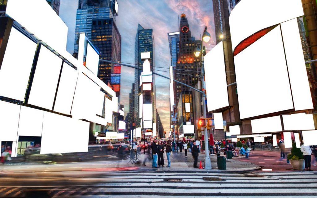 Times Square nos dias de hoje, em Nova York