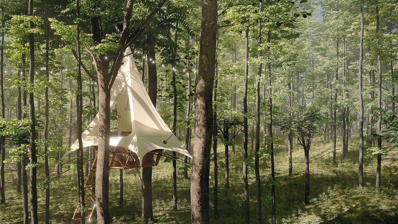 imagem ilustrativa da vila de casas na árvore