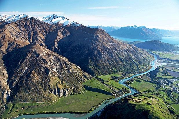 Queenstown, uma das mais conhecidas da Nova Zelândia