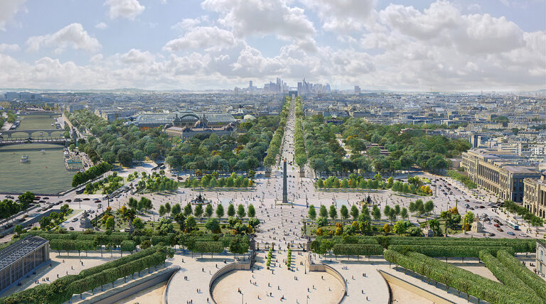 vista da Champs-Élysées em Paris