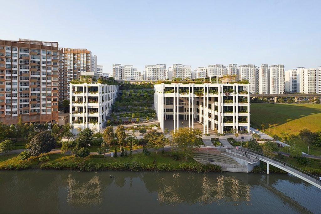 Jardins suspensos Oasis Terraces Singapore