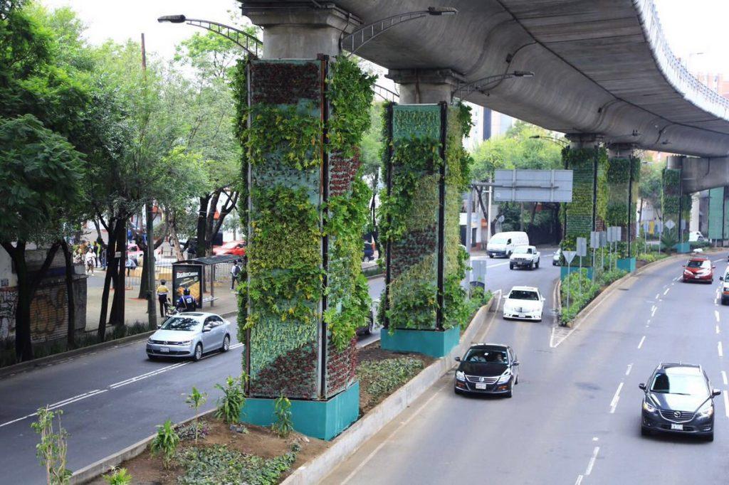 Jardins suspensos de Via Verde, México