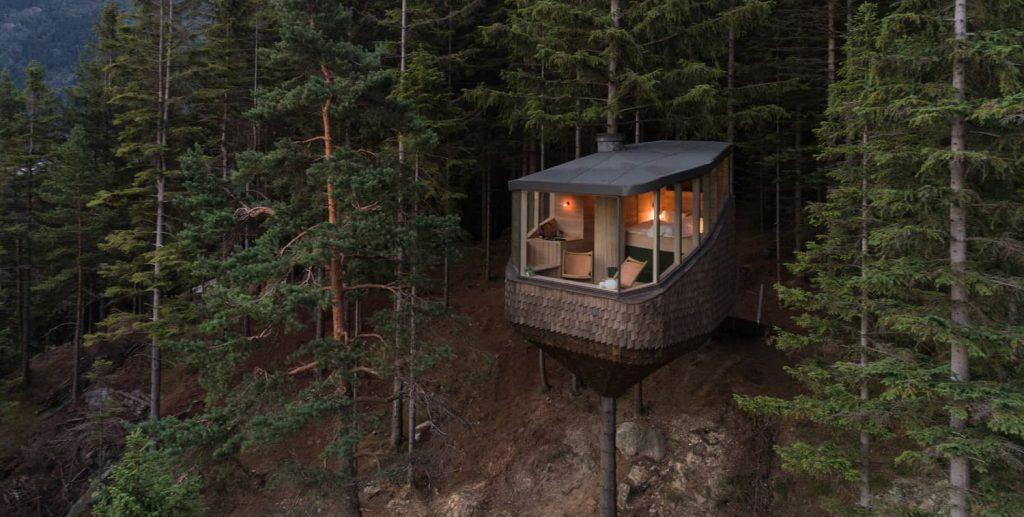 cabine casa na árvore