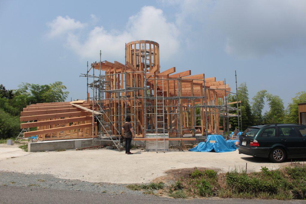 imagem da construção da residência