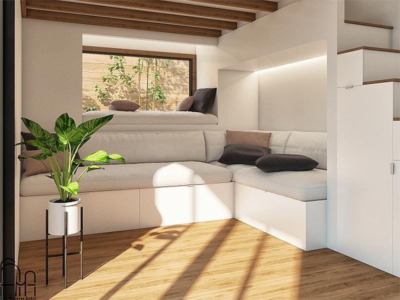 interior da tiny home