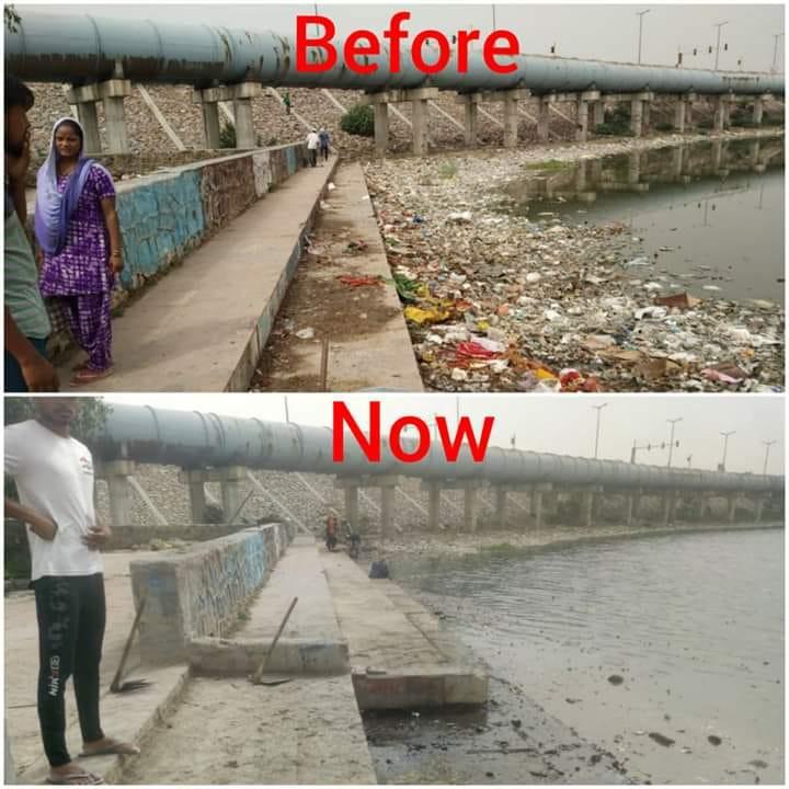 antes e depois da revitalização das lagoas pelo indiano