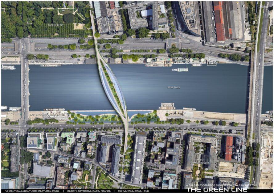 vista aérea do projeto
