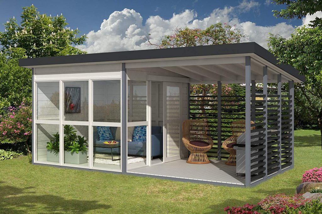 mini casa de quintal da Amazon que pode ser construída em 8 horas