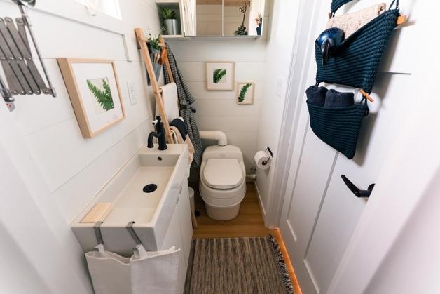 banheiro no interior