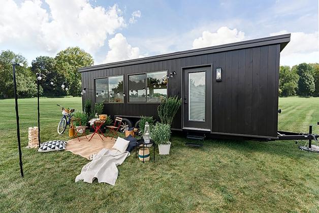 mini casa móvel sustentável