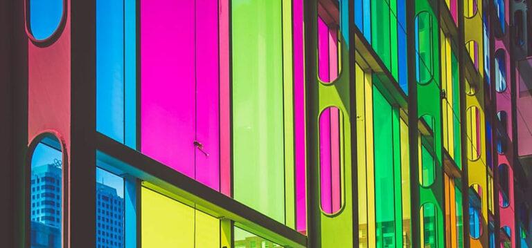 imagem do painel solar colorido