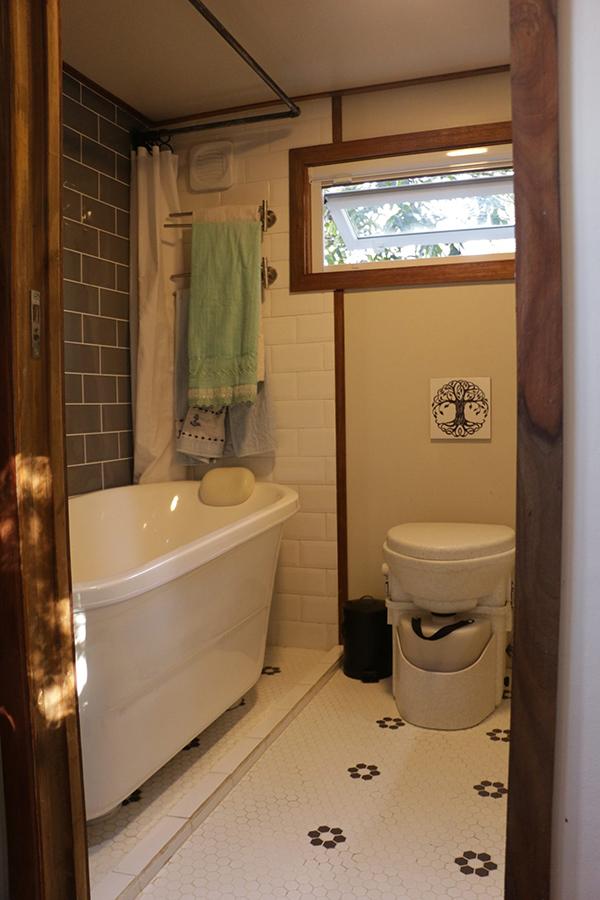 banheiro de tiny home