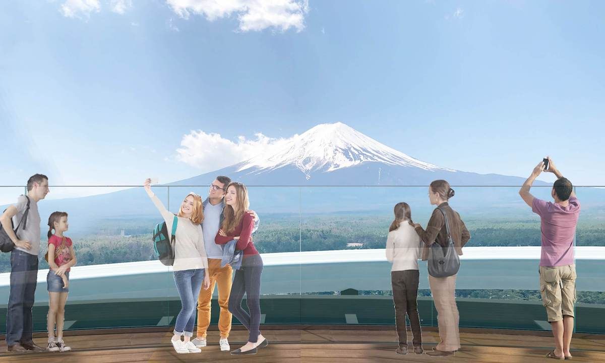 No Japão, nova torre de observação no meio de uma montanha-russa oferece vista para o Monte Fuji