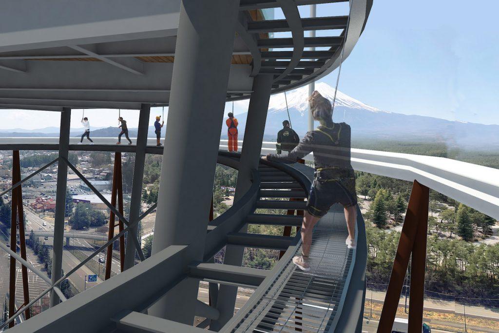 imagem da Torre Fujiyama com vista para o Monte Fuji