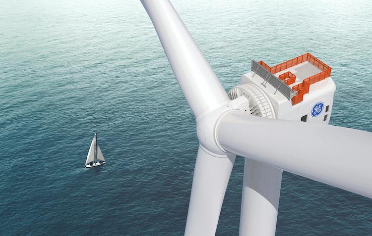 imagem de turbina eólica offshore Haliade-X