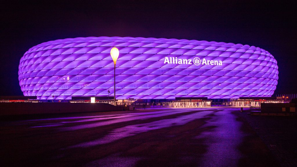 Fachada do estádio Allianz Arena