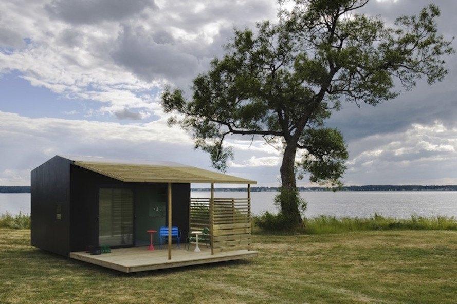 Mini House de Jonas Wagel construída em dois dias