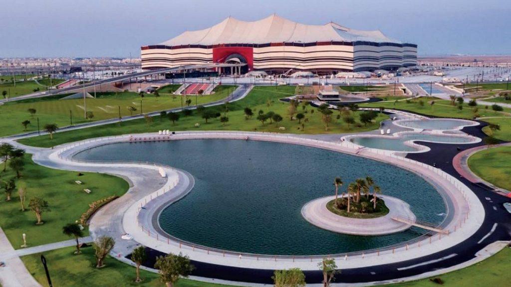 Fachada do Al bayt Stadium