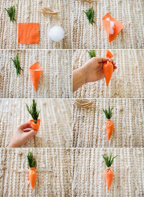 cenoura DIY de páscoa
