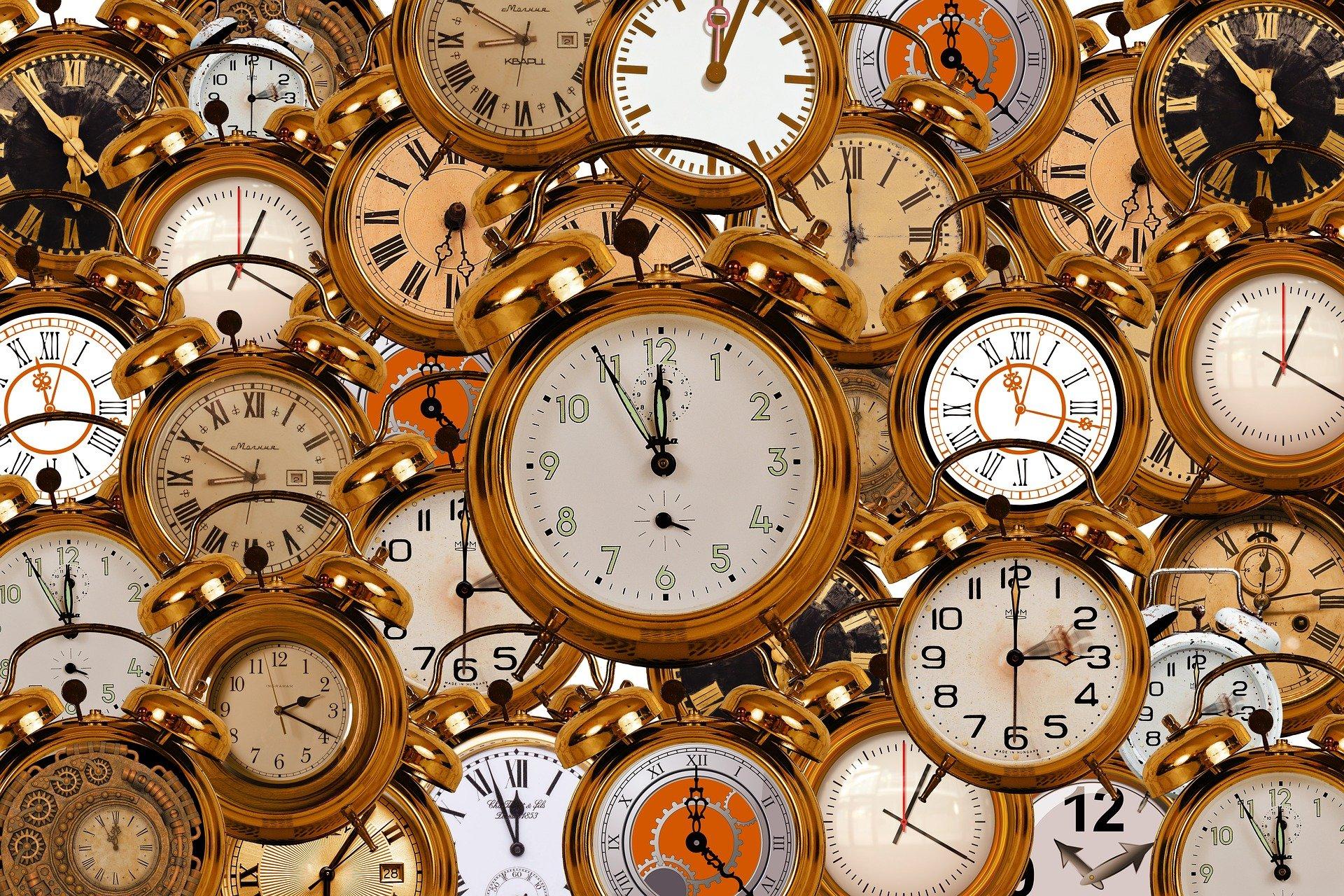Relógios, Tempo