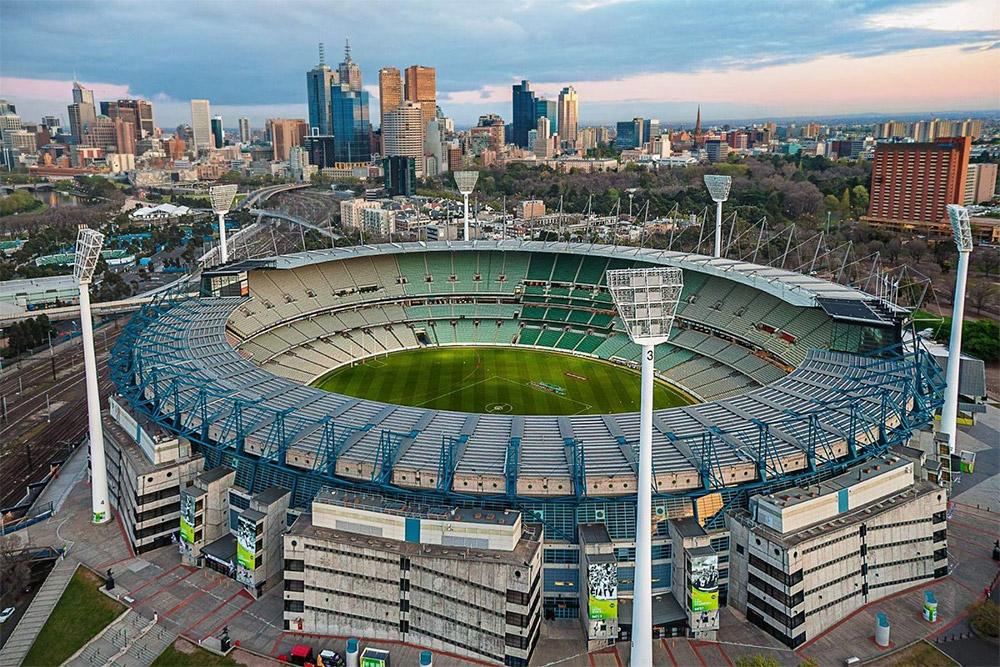 Foto aérea do Melbourne Cricket Ground