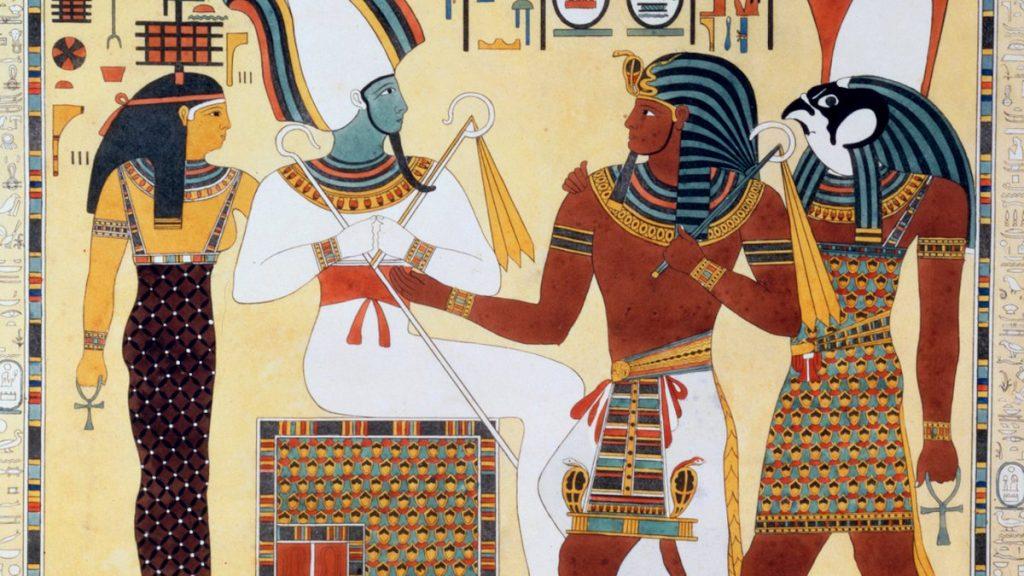 desenho de faraós antigos