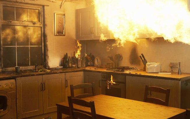 cozinha em chamas