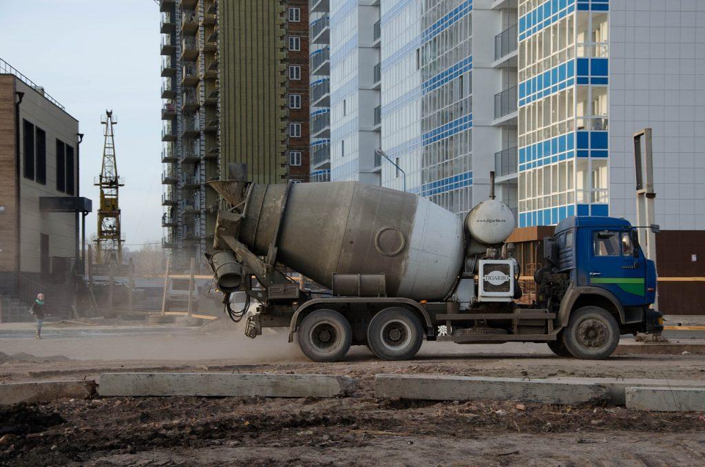 betoneira de concretagem