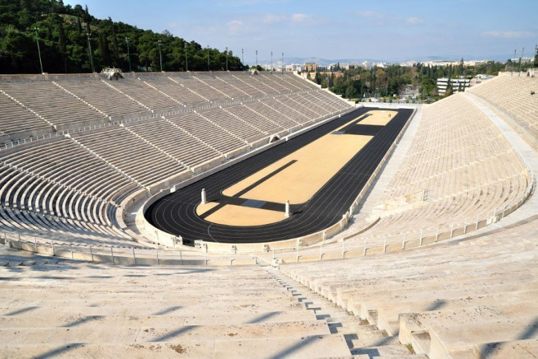 Vista do estádio Panatenaico