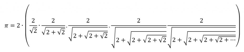 equação  para chegar a pi