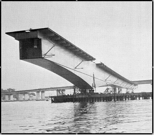 Viga metálica da Ponte Rio-Niterói