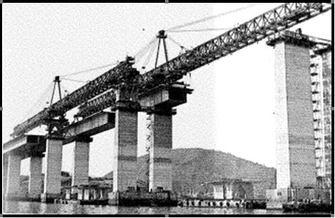 Montagem das aduelas - Ponte Rio-Niterói