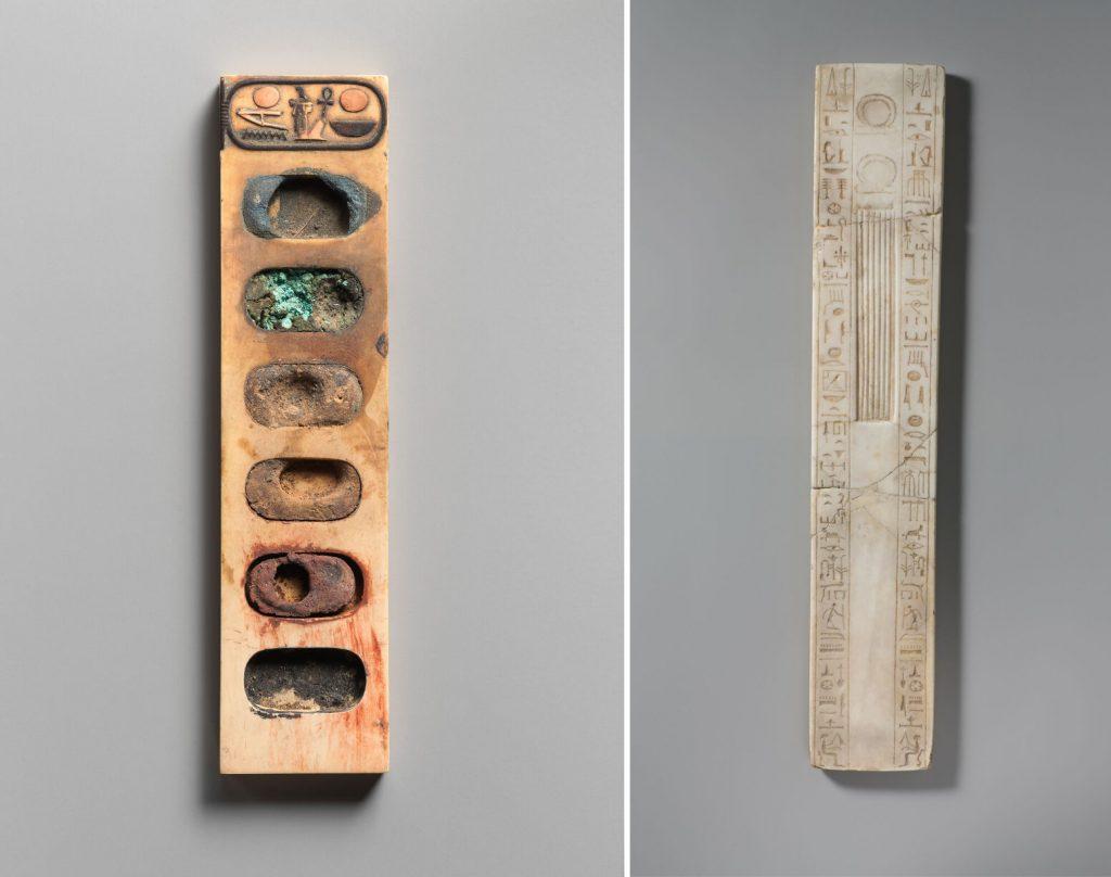 paleta de cores utilizadas no Egito Antigo