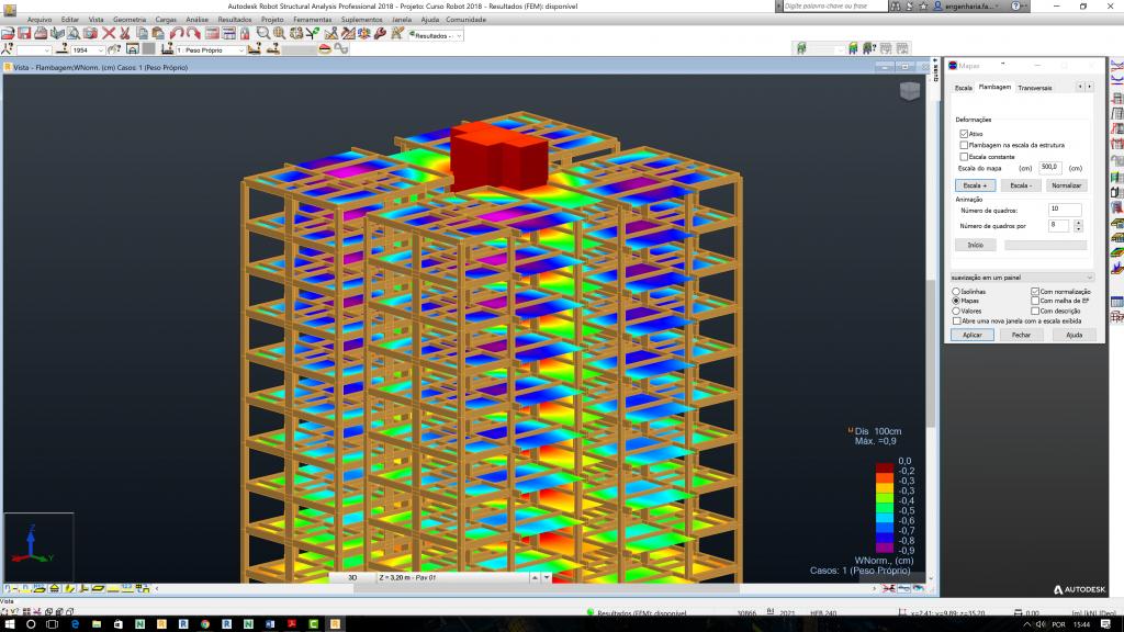 Imagem da tela do software robot