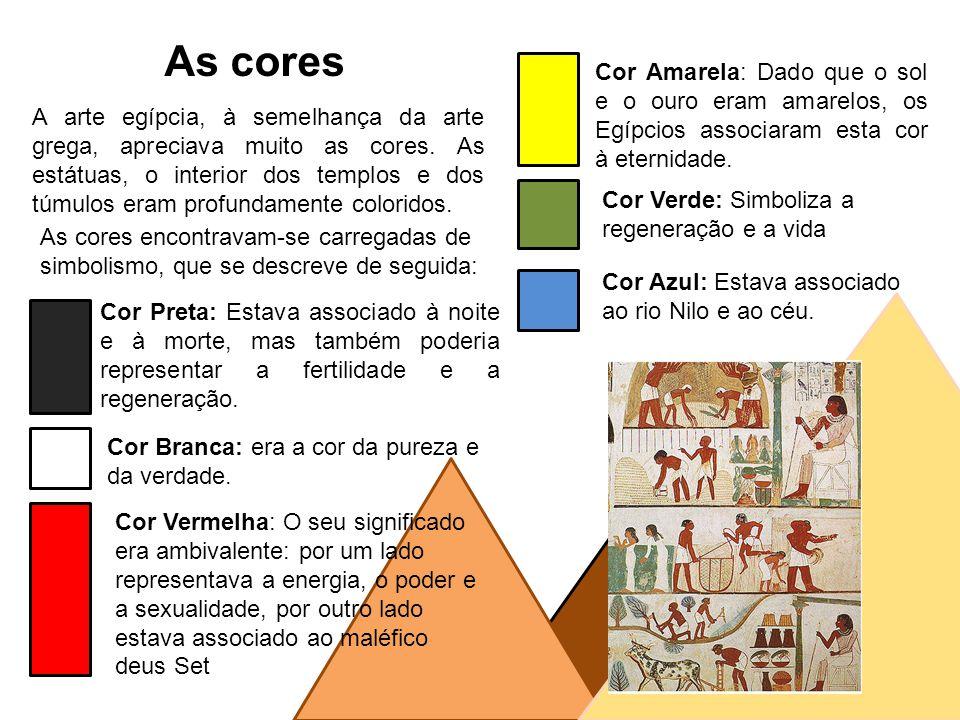 significado das cores no Egito antigo