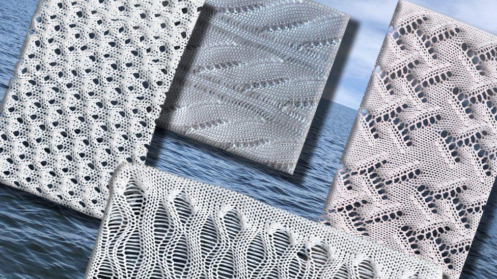 Padrões de tecido de polietileno. Fonte: MIT.